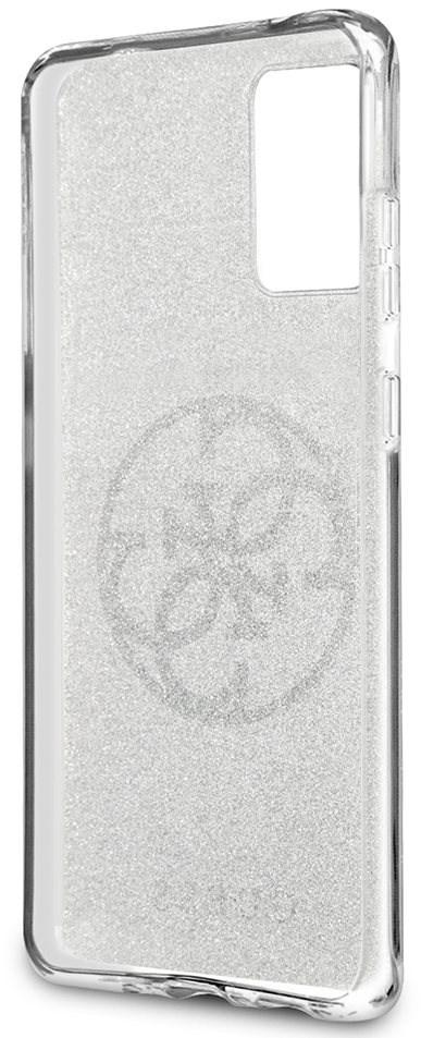 Guess 4G Glitter Circle hátlap tok Samsung Galaxy S20+ készülékhez - szürke - Mobiltelefon hátlap