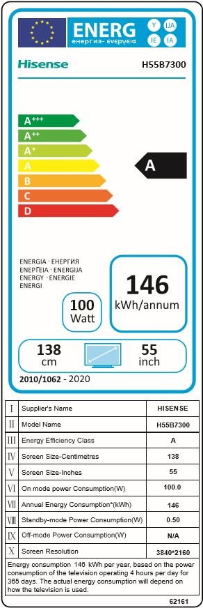 "55"" Hisense H55B7300 - Televízió"