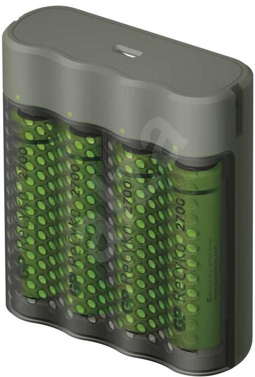 GP Speed M451 + 4× AA ReCyko 2700 - Akkumulátortöltő.