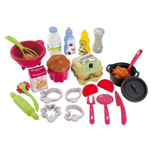 Ecoiffier Pro Cook kiegészítő készlet - Játék szett