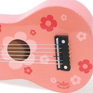 Vilac - Játékgitár rózsaszín virágokkal - Zenélő játék
