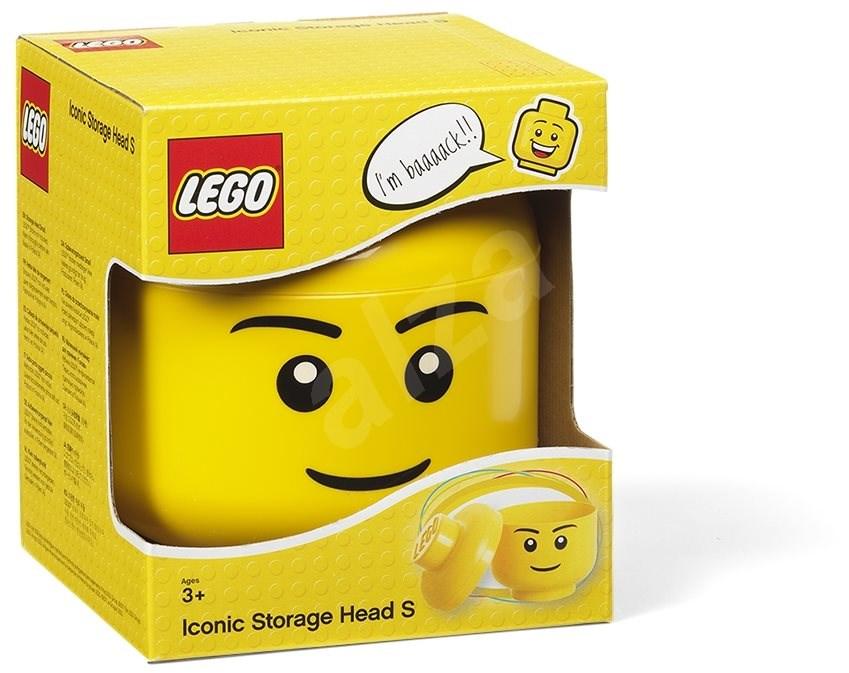 LEGO fiú tárolófej (S méret) - Tárolódoboz