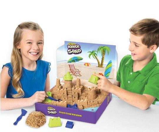 Kinetic sand Nagy homokvár - Kreatív szett