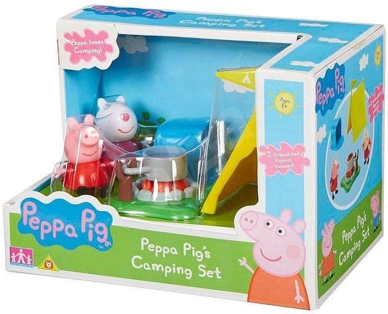Peppa Pig - Camping készlet + 2 figura - Játék szett