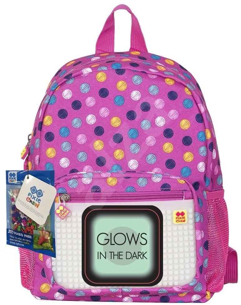 Pixie színes pontok (világít a sötétben) - Gyerek hátizsák