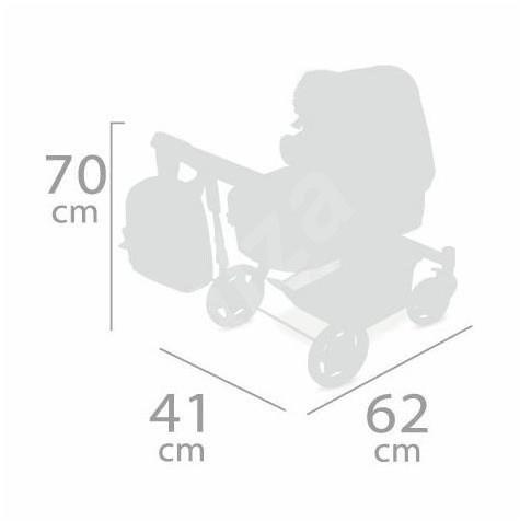 DeCuevas 80539 Összecsukható játék babakocsi hátizsákkal 3 az 1-ben Little Pet 2020 - Játék babakocsi