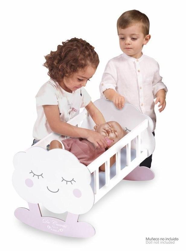 DeCuevas 55129 Fa bölcső babákhoz Martin 2019 kiegészítőkkel - Játék bababútor