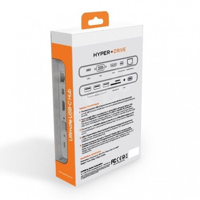 HyperDrive Ultimate USB-C Hub - Ezüst - USB Hub