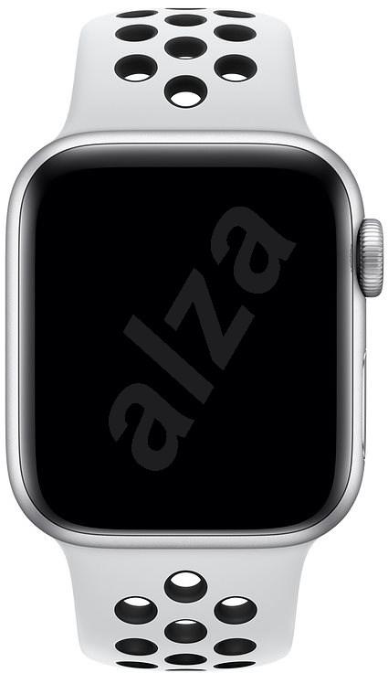 Apple Watch 40mm platinaszín-fekete Nike sportszíj - S/M és M/L - Szíj