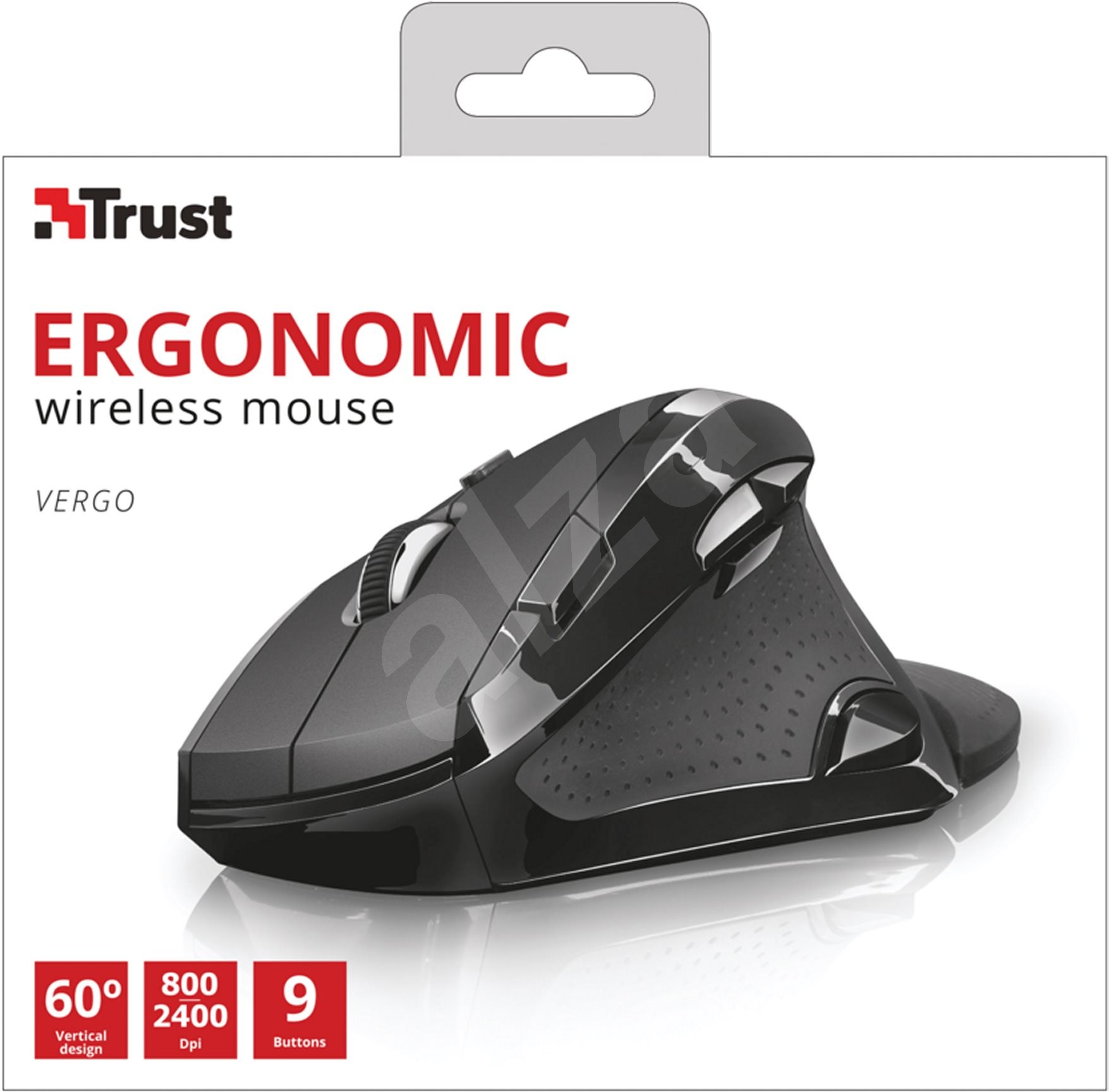 Trust Vergo Wireless Ergonomic Comfort Mouse - Egér