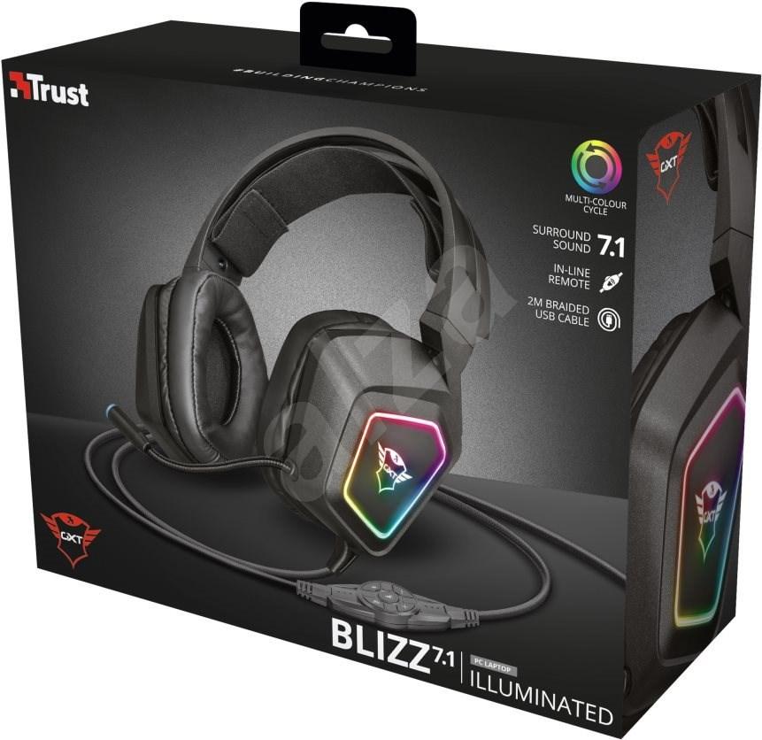 TRUST GXT450 BLIZZ 7.1 RGB HEADSET - Gamer fejhallgató