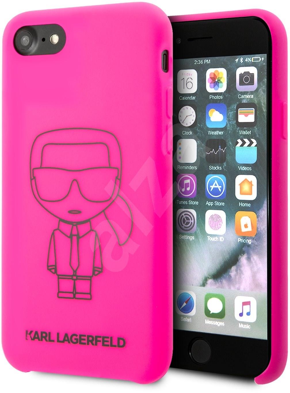 Karl Lagerfeld Ikonic iPhone 8/SE 2020 készülékhez Pink - Mobiltelefon hátlap