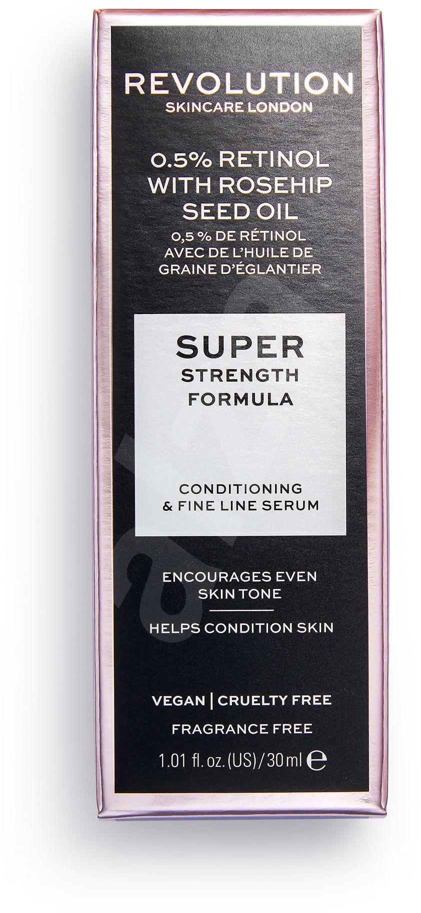 REVOLUTION SKINCARE Extra 0 5% Retinol Serum with Rosehip Seed Oil 30 ml - Arcápoló szérum
