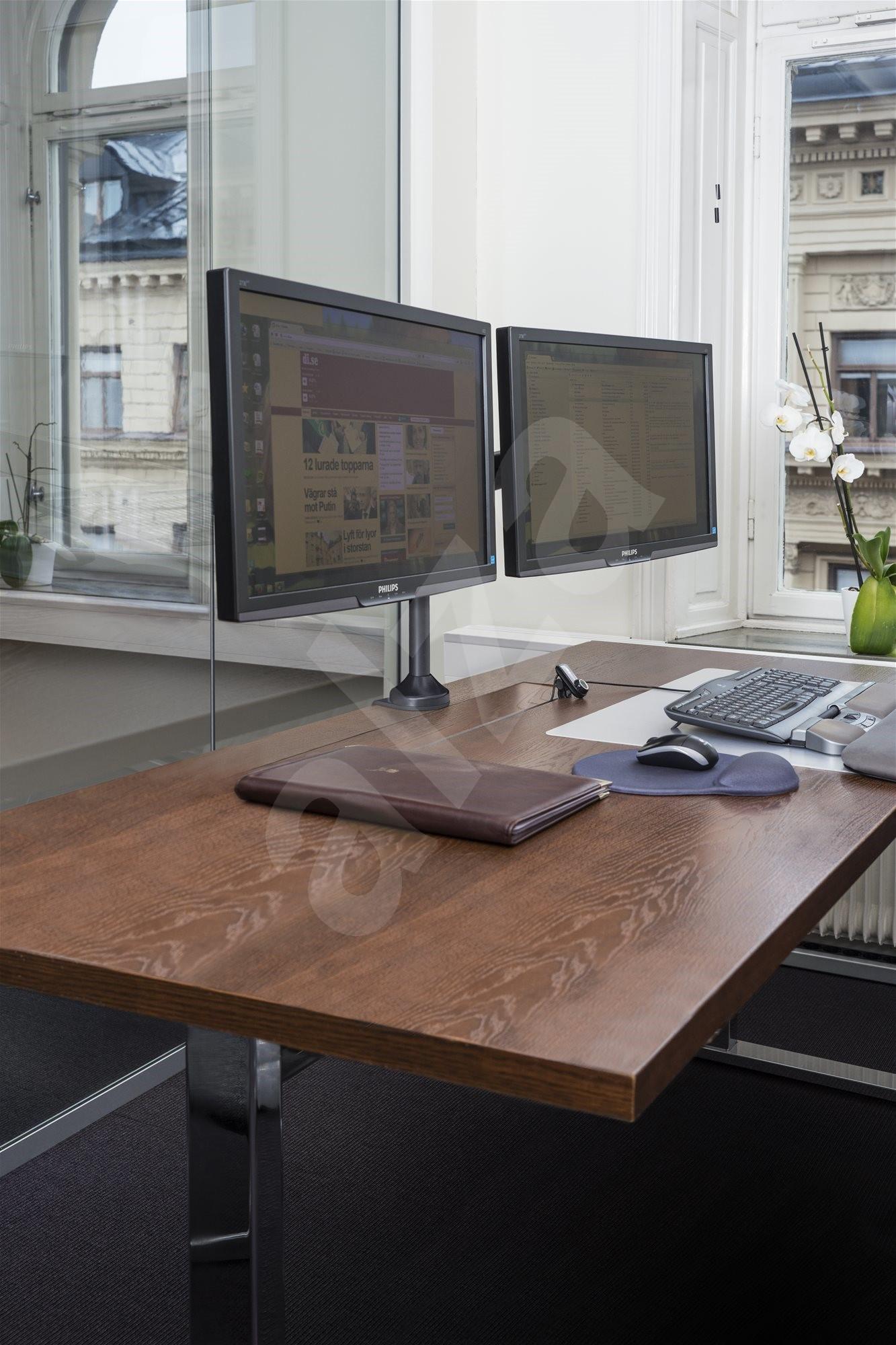 Multibrackets Plyn Dual Asztali monitorállvány - Monitorállvány