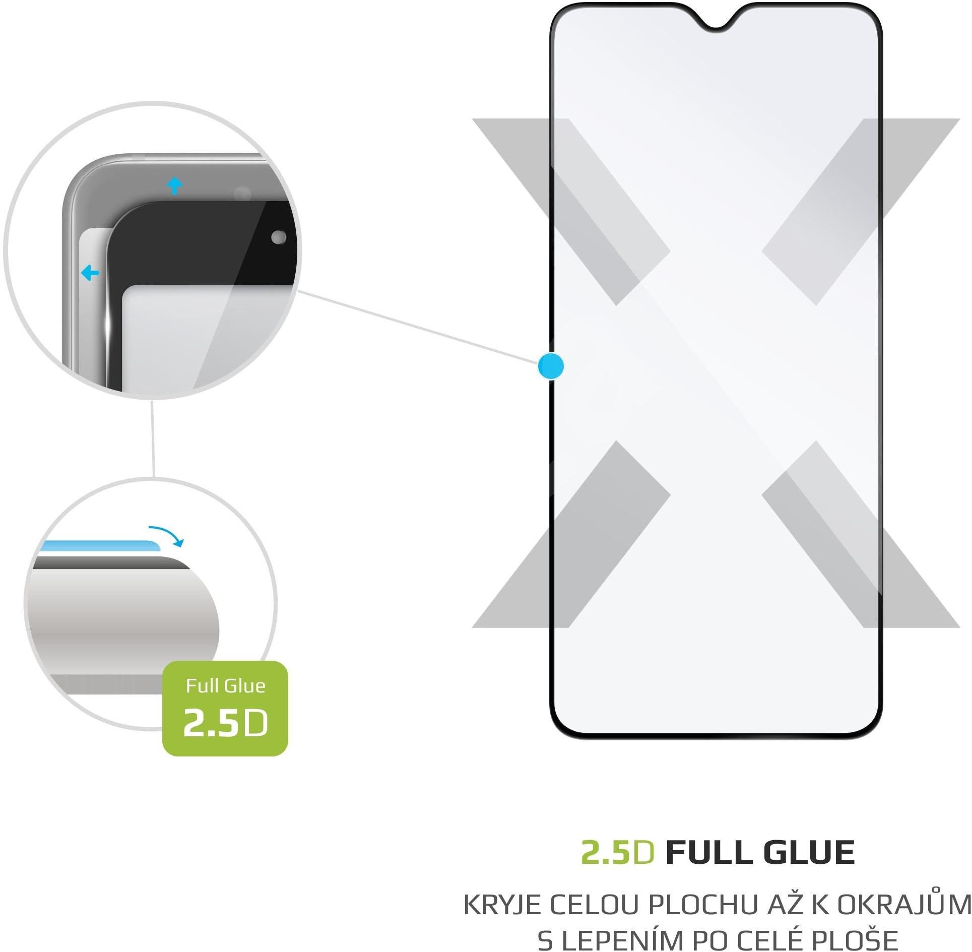 FIXED FullGlue-Cover Realme 5 Pro készülékhez - fekete - Képernyővédő.