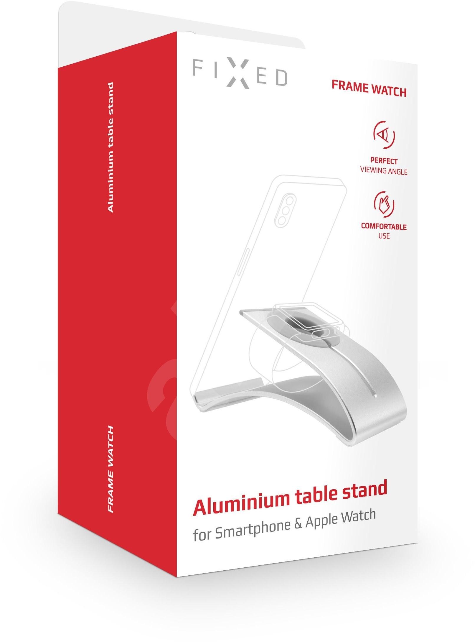 RÖGZÍTETT Frame Watch az asztalon  a mobiltelefonok és az ezüst táblagépek óráinak megtekintéséhez - Állvány