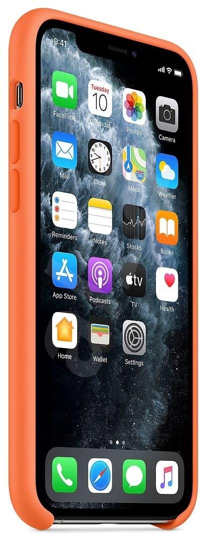 Apple iPhone 11 Pro szilikon tok homoktövis színű - Mobiltelefon hátlap