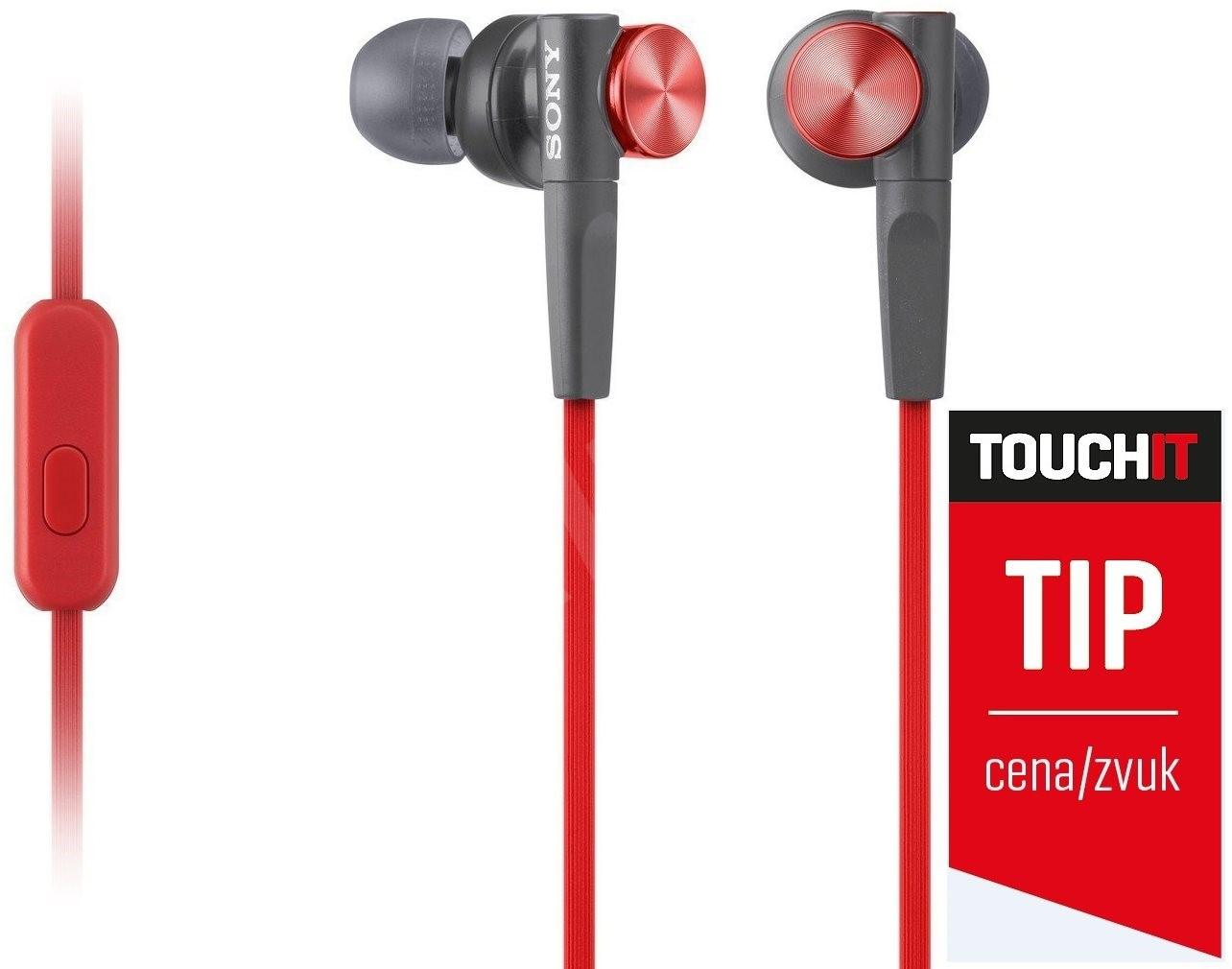 Sony MDR-XB50AP - piros - Fej-/fülhallgató