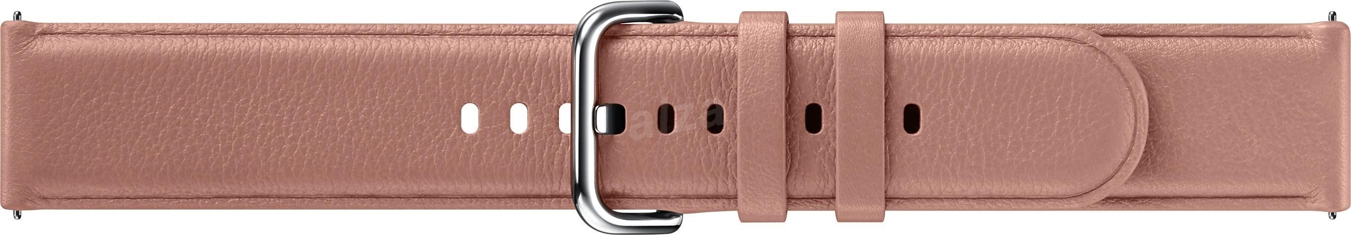 Samsung bőrszíj Galaxy Watch Active 2 okosórához  20mm - rózsaszín - Szíj