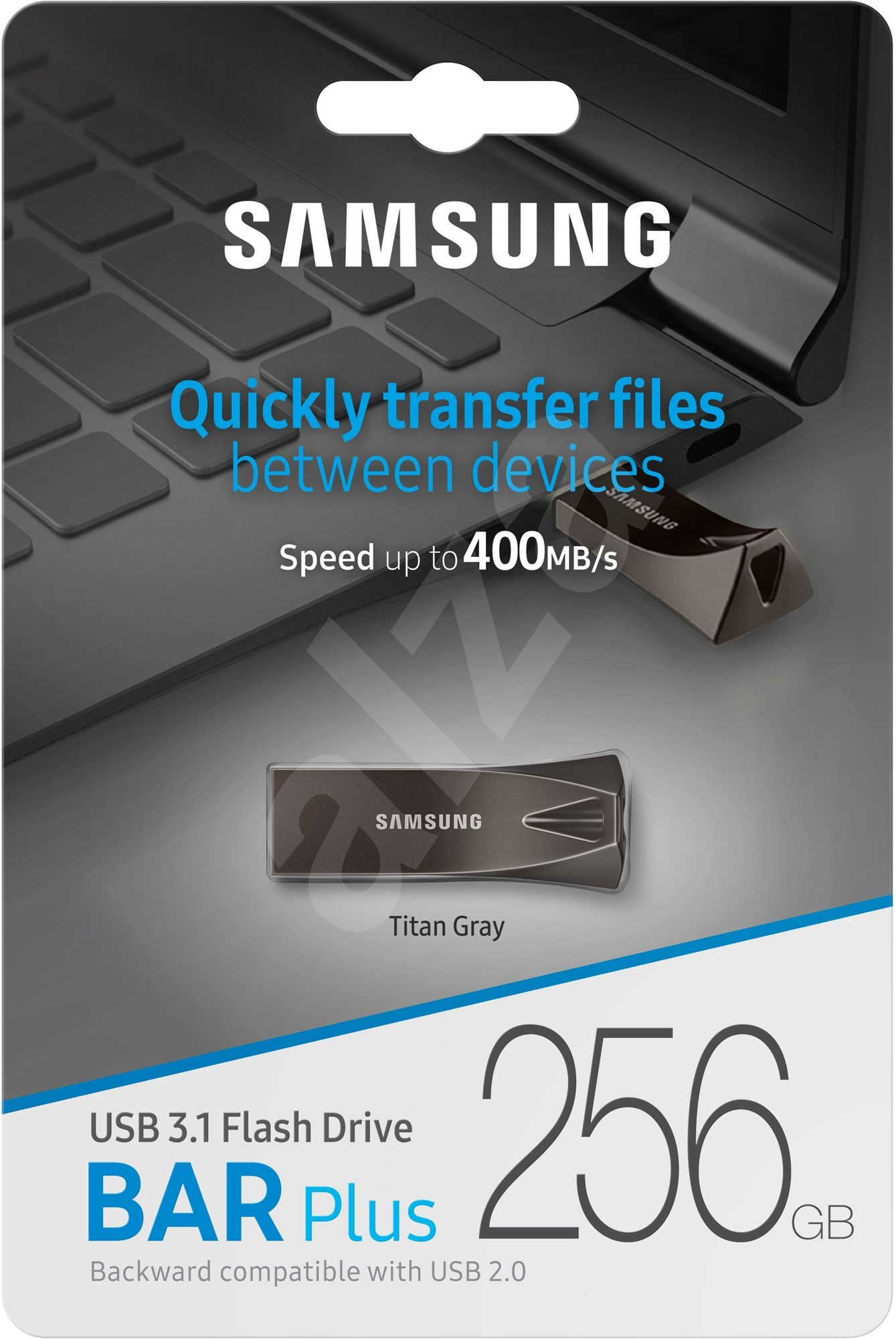 Samsung USB 3.1 256GB Bar Plus Titan Grey - Pendrive