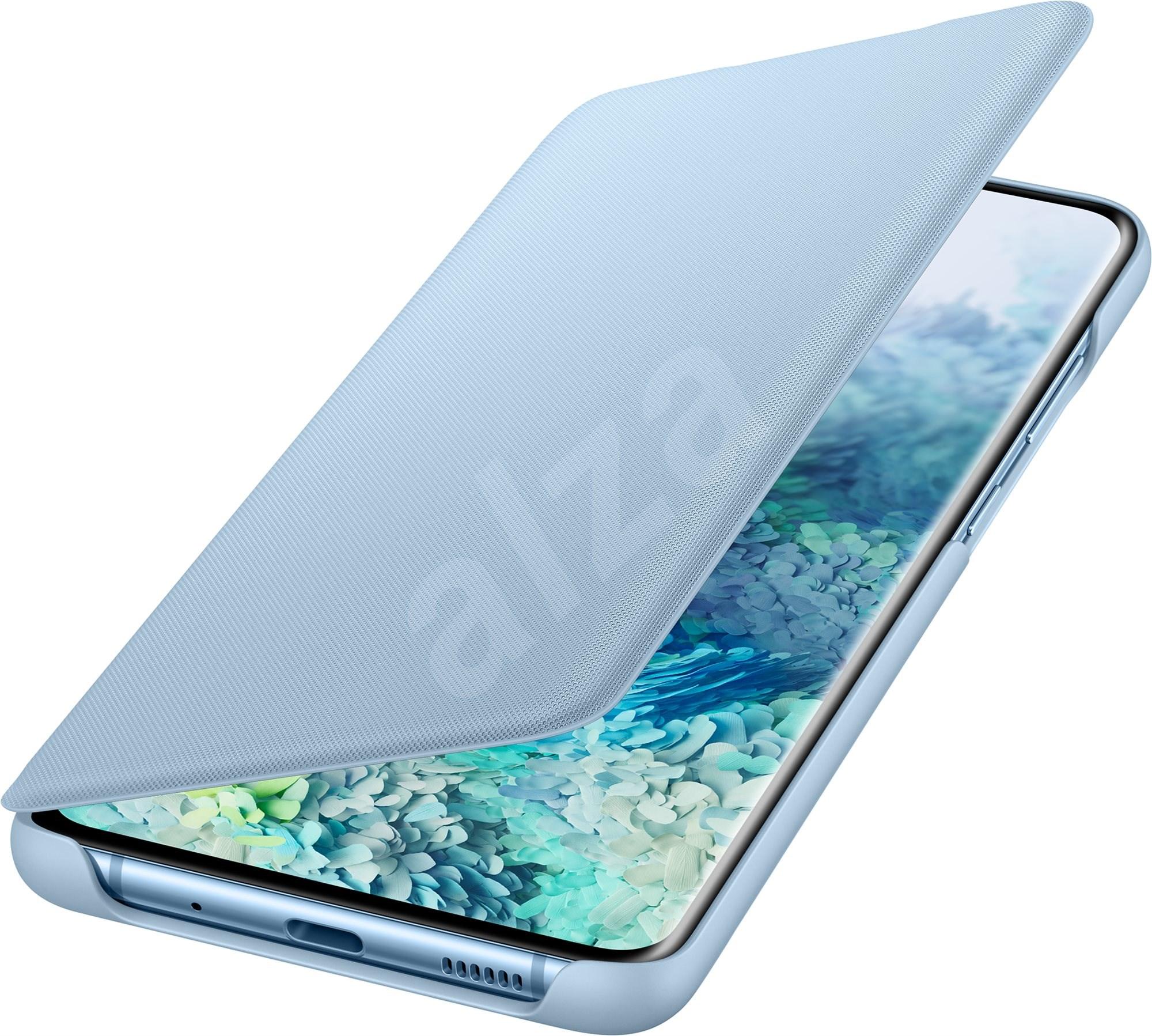 Samsung LED View flip tok Galaxy S20+ készülékhez  kék - Mobiltelefon tok