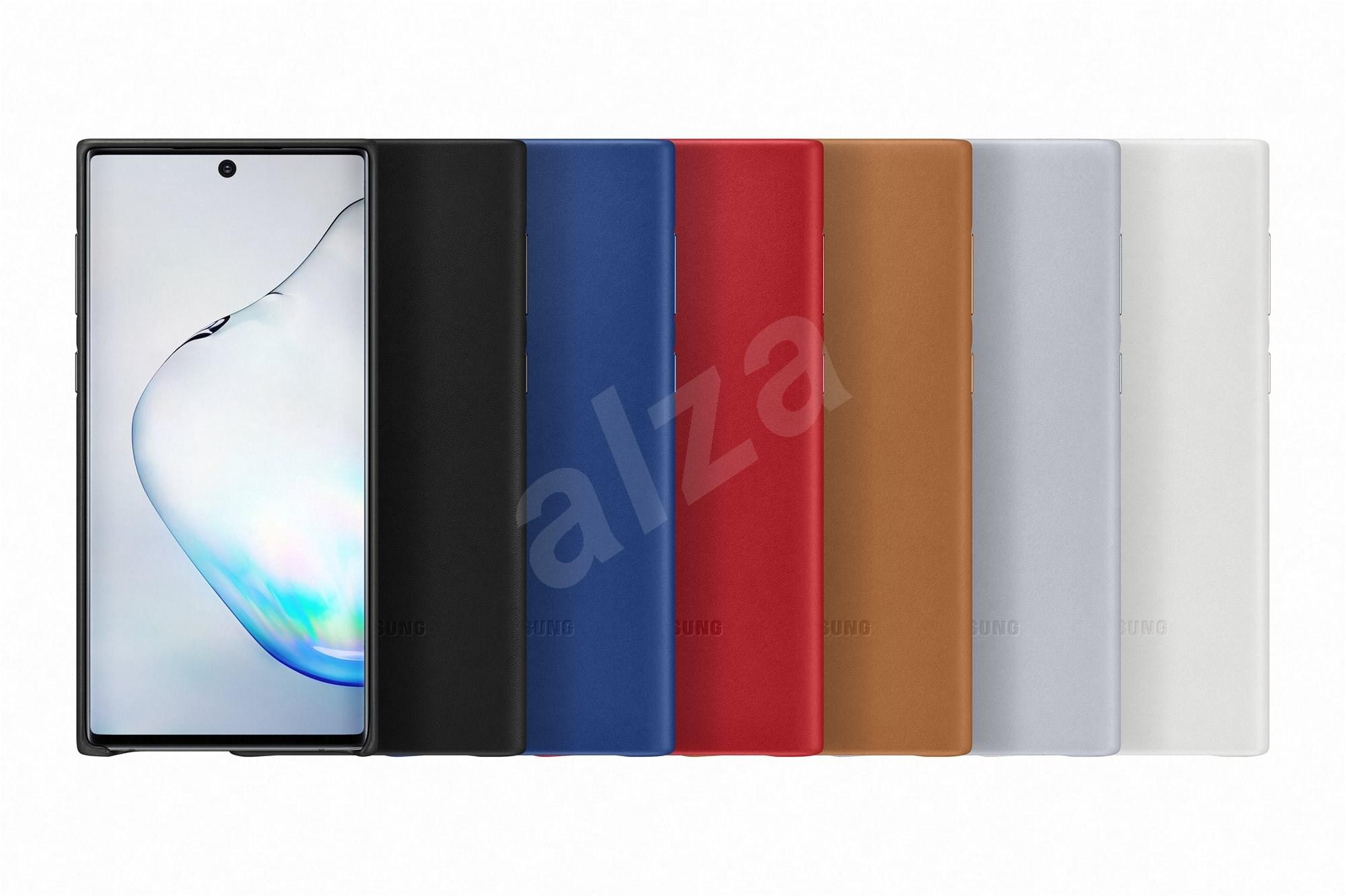 Samsung bőr hátlap tok Galaxy Note10 készülékhez  kék - Mobiltelefon hátlap