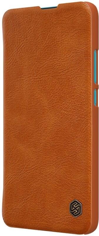 Nillkin Qin bőr tok a Xiaomi Poco F2 készülékhez barna - Mobiltelefon tok