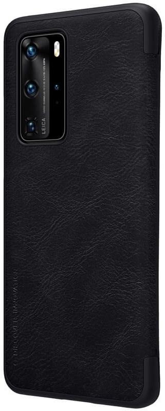 Nillkin Qin bőrtok Huawei P40 Pro készülékhez - fekete - Mobiltelefon tok