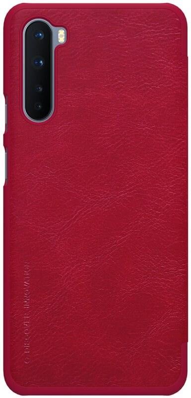 Nillkin Qin bőr tok OnePlus Nord készülékhez piros - Mobiltelefon tok