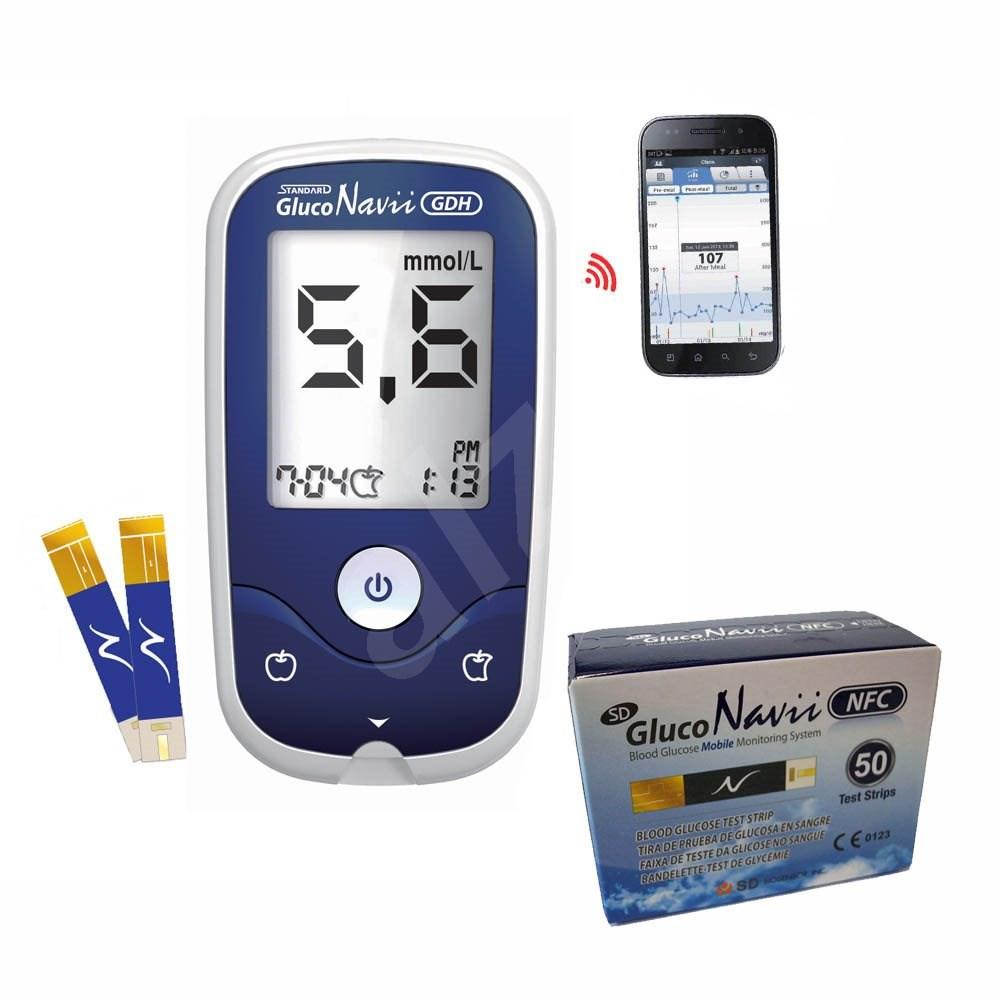 SD Gluco Navii NFC vércukorszintmérő + 50 csík - Szett