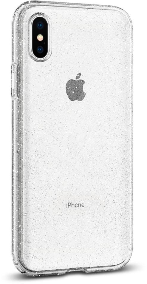 Spigen Liquid Crystal Glitter Crystal iPhone XS/X - Mobiltelefon hátlap