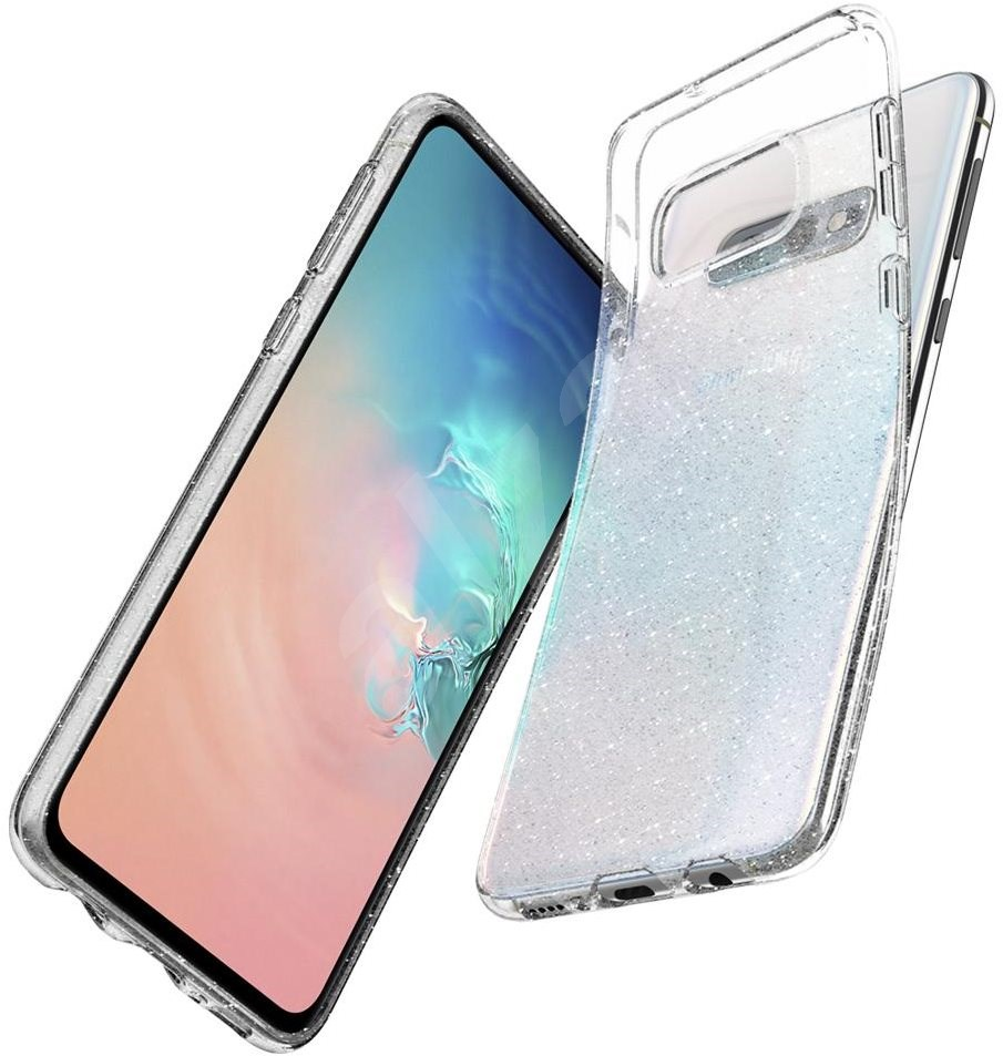 Spigen Liquid Crystal Glitter Samsung Galaxy S10e  átlátszó - Mobiltelefon hátlap