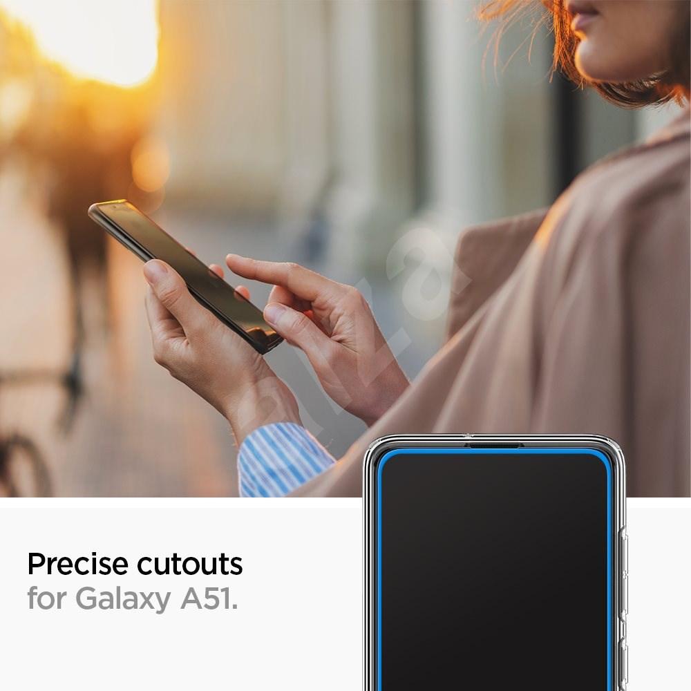 Spigen Glass FC Black Samsung Galaxy A51 - Képernyővédő.
