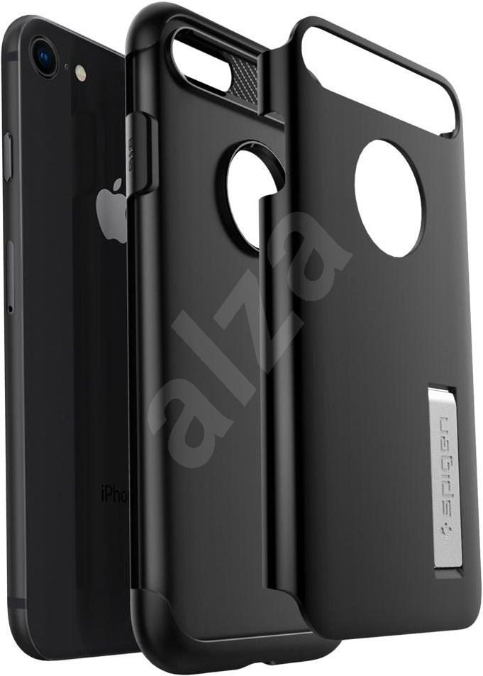 Spigen Slim Armor Black + Spigen Glas.tR SLIM HD 1 Pack Bundle - Mobiltelefon hátlap