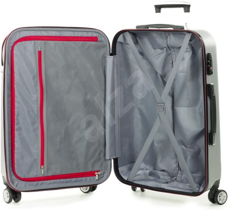 Rock TR-0166/3-S ABS/PES - ezüst - TSA záras bőrönd