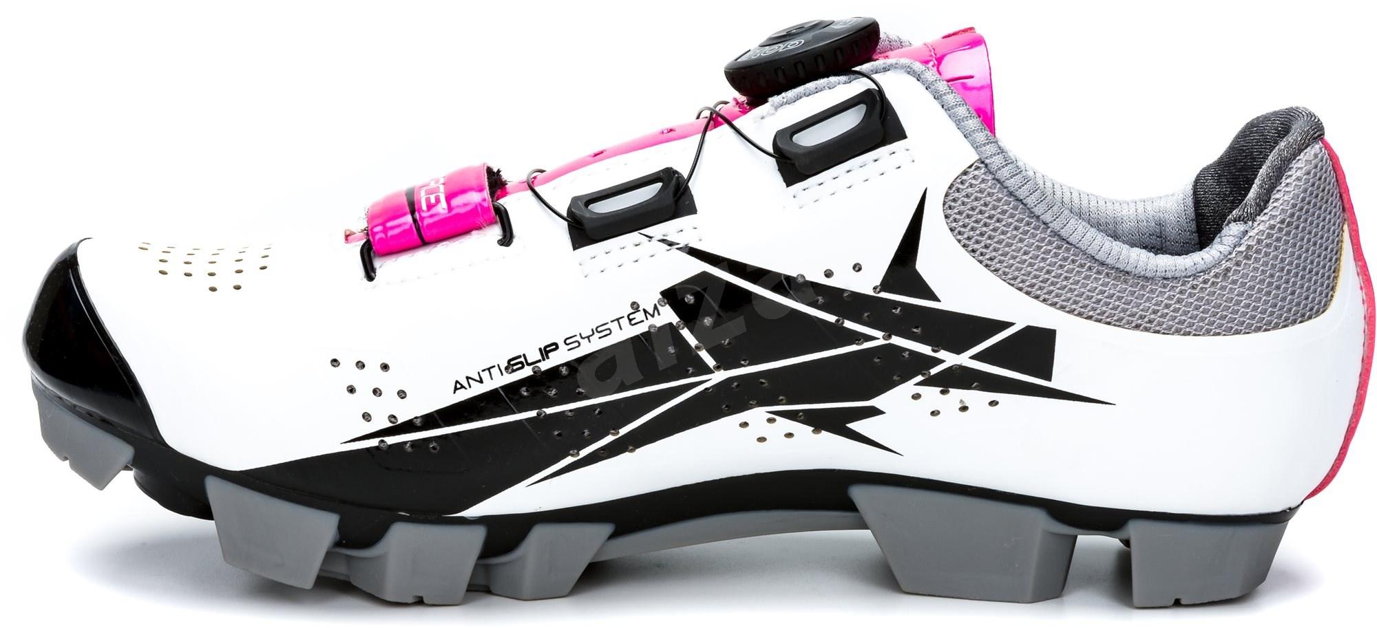 Force MTB Crystal - fehér/ rózsaszín  mérete 36/225 mm - Kerékpáros cipő.