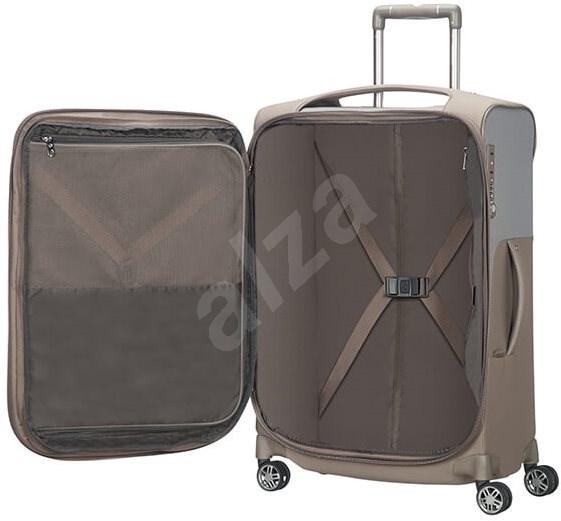 Samsonite B-Lite Icon SPINNER 63 EXP  sötét homokszín - TSA záras bőrönd