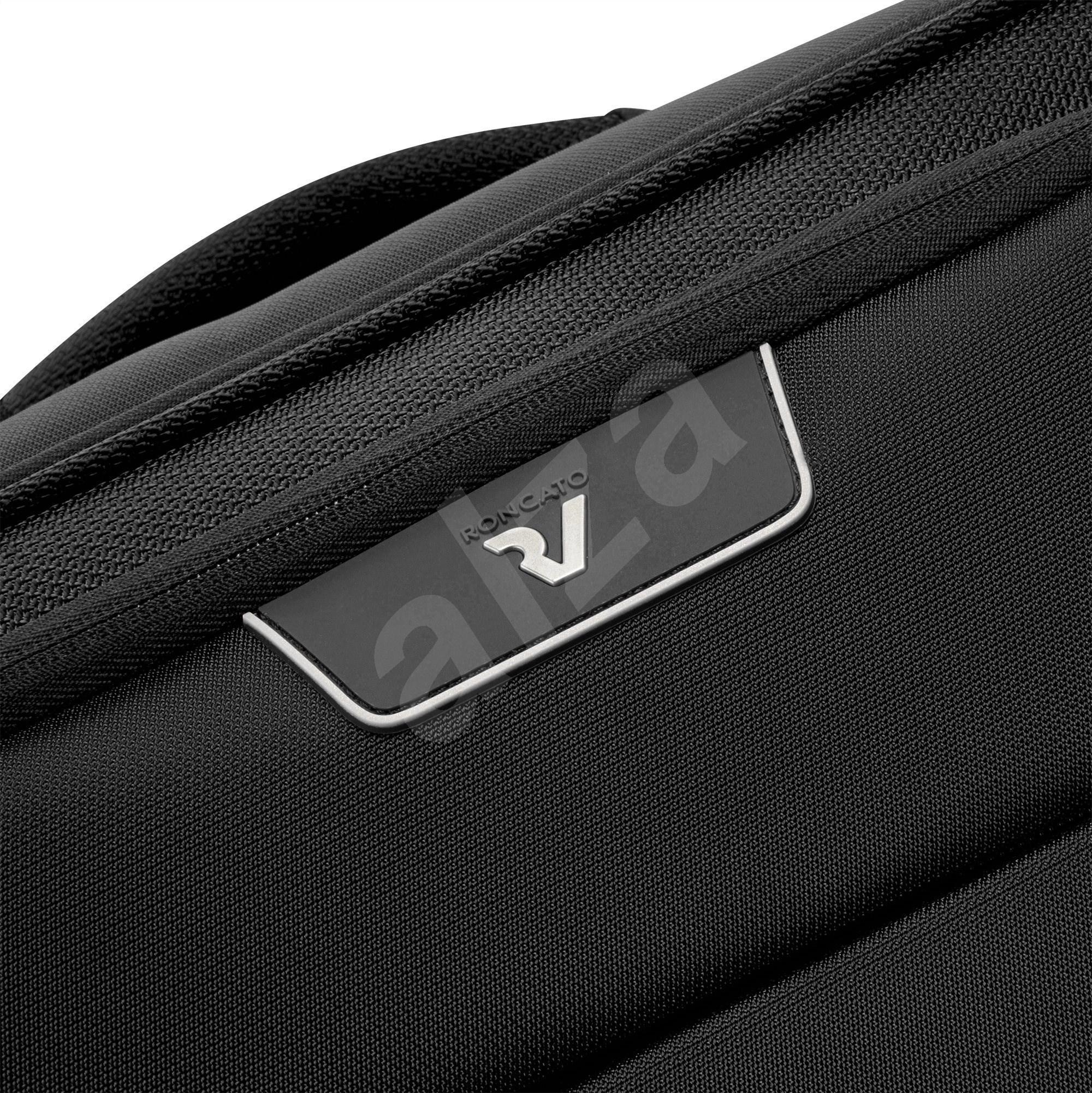 Roncato JOY bőrönd  55 cm  4 kerék  TOP POCKET  USB  fekete - TSA záras bőrönd
