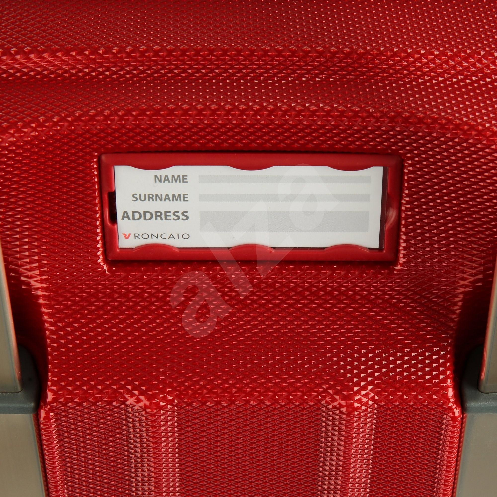 Roncato Unica  80 cm  4 kerék  piros - Bőrönd