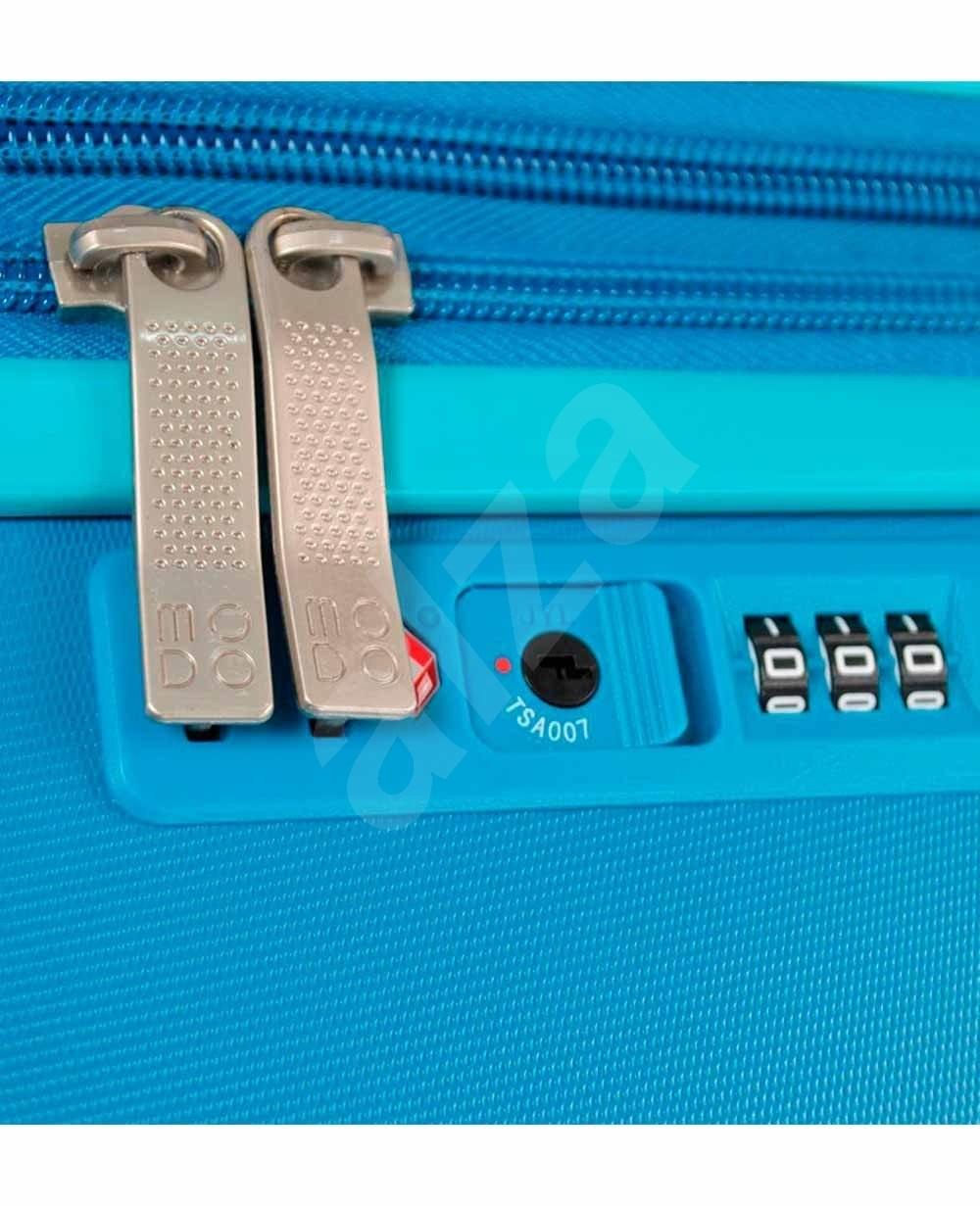 Modo by Roncato Vega 55 EXP  kék - TSA záras bőrönd
