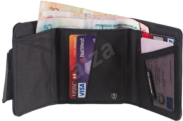 Lifeventure RFiD Wallet aubergine - Pénztárca