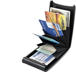 TRU VIRTU RAZOR Fan bankkártya tartó - silk black magic - Pénztárca