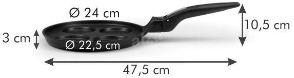 Tescoma 4 darabos 24 cm Smartclick - Palacsintasütő.