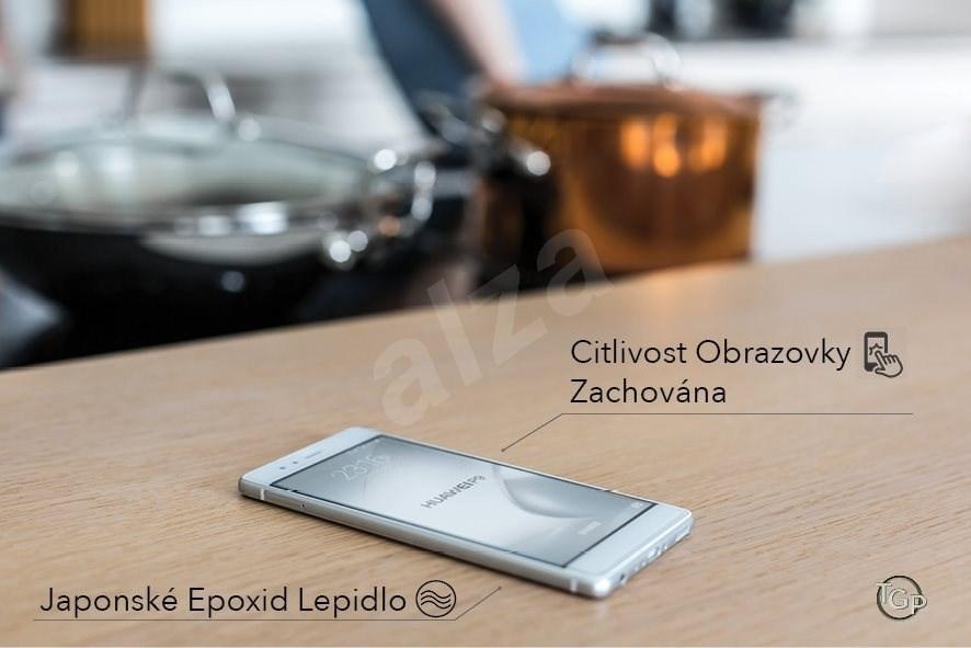 Tempered Glass Protector Telefon széléig érő - Huawei P10 Lite Fekete készülékhez - Képernyővédő.