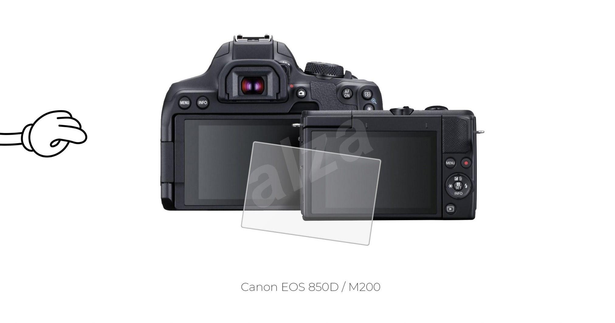 Tempered Glass Protector 0.3mm Canon EOS M200/850D készülékhez - Képernyővédő.