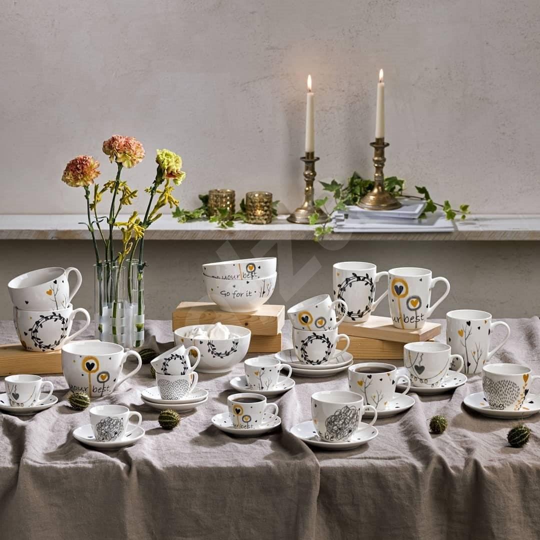 Tognana Kávés csésze és alj készlet 6db 80ml IRIS GOLDY - Csésze + csészealj
