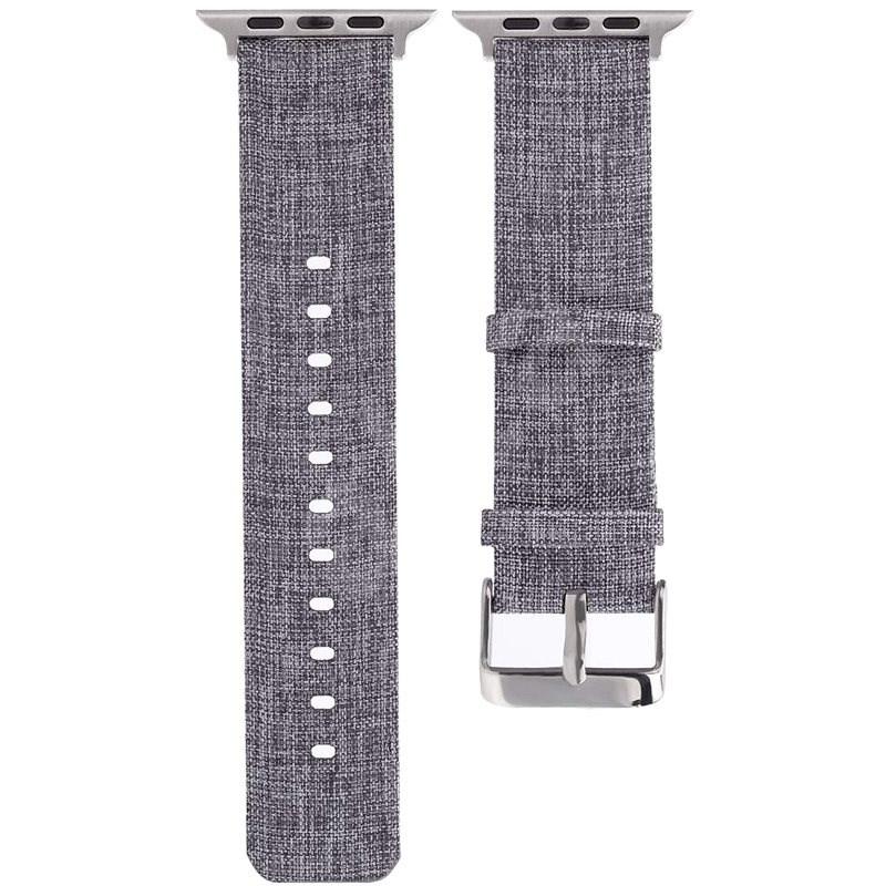 Eternico 42mm / 44mm Canvas Band szürke Apple Watch-hoz - Szíj