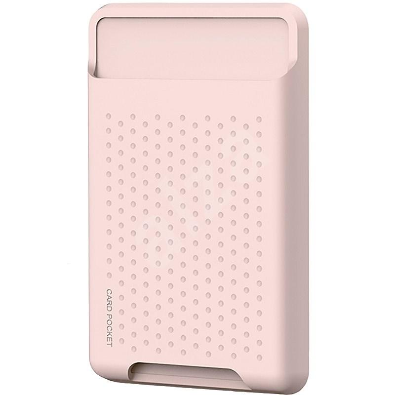 AhaStyle szilikon magsafe pénztárca Apple iPhone-hoz rózsaszínű - MagSafe tárca