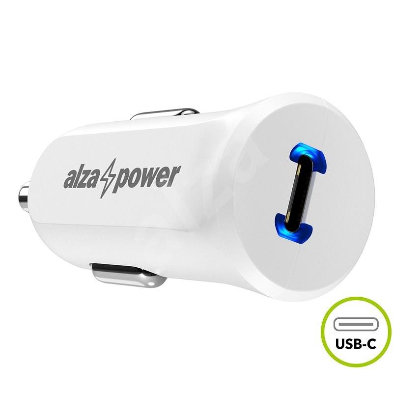 AlzaPower Car Charger P310 Power Delivery, fehér - Autós töltő