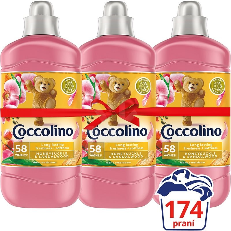 COCCOLINO Creations Honeysuckle & Sandalwood 3 × 1,45 l (174 mosás) - Öblítő